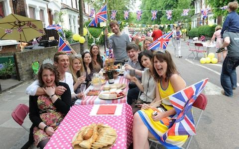 People are being encouraged to make the most of the Royal wedding and FA Cup celebrations. Here is a street party in Harberton Road, London, for the wedding of Prince William and Catherine Middleton on 29 Apr 2011 - Credit:  Tony Kyriacou / Rex Features