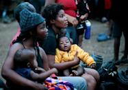 Many migrants arriving in Panama have babies or young children in tow, some of whom fell ill on the trek through the humid Darien jungle