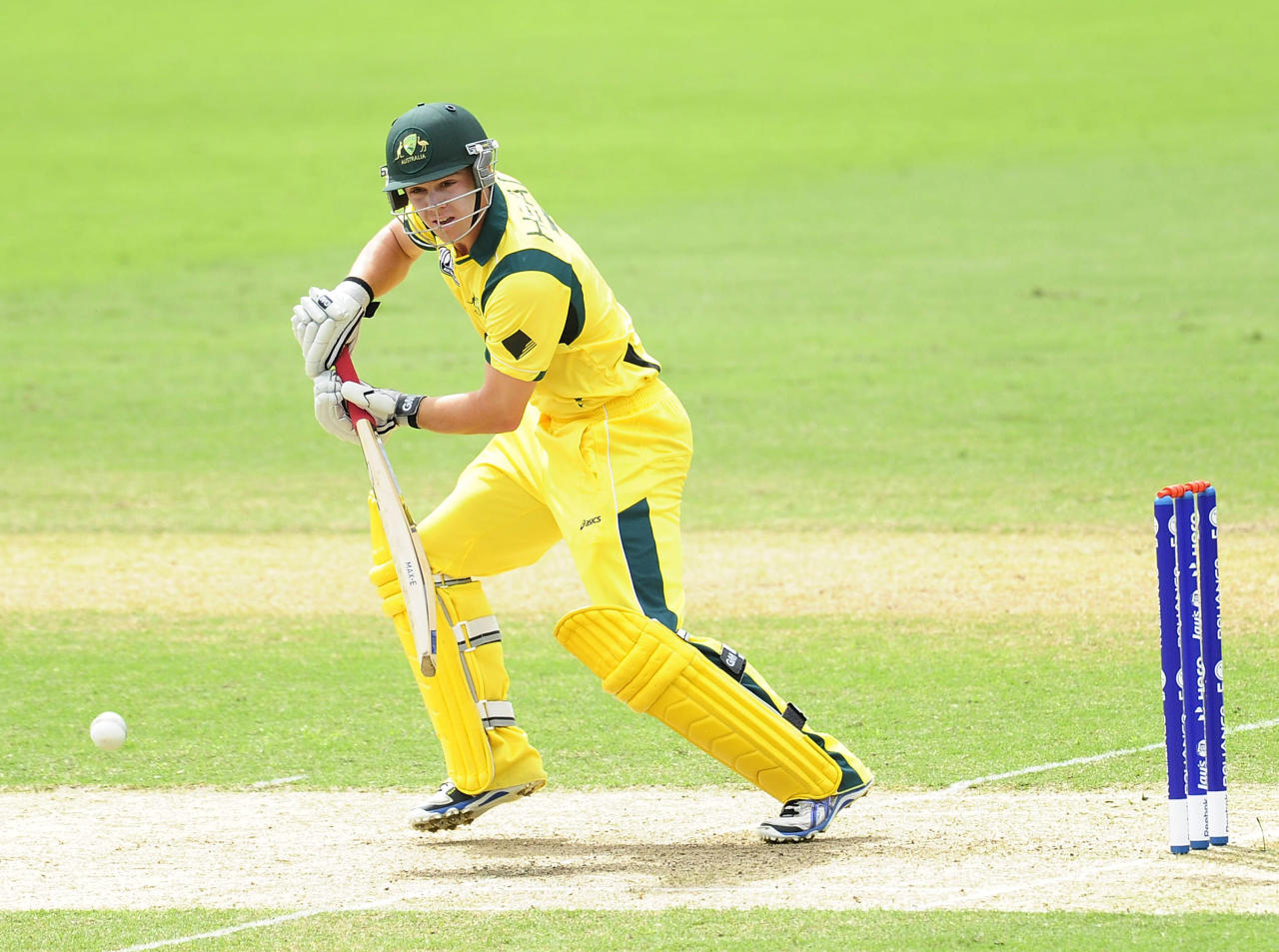 TOWNSVILLE, AUSTRALIA - AUGUST 26:  Travis Head of Australia bats during the 2012 ICC U19 Cricket World Cup Final between Australia and India at Tony Ireland Stadium on August 26, 2012 in Townsville, Australia.  (Photo by Ian Hitchcock-ICC/Getty Images)