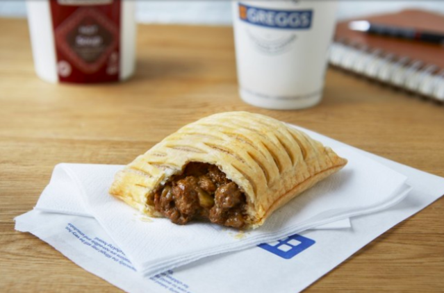 The brand's latest meat-free product is filled with Quorn [Image: Greggs]