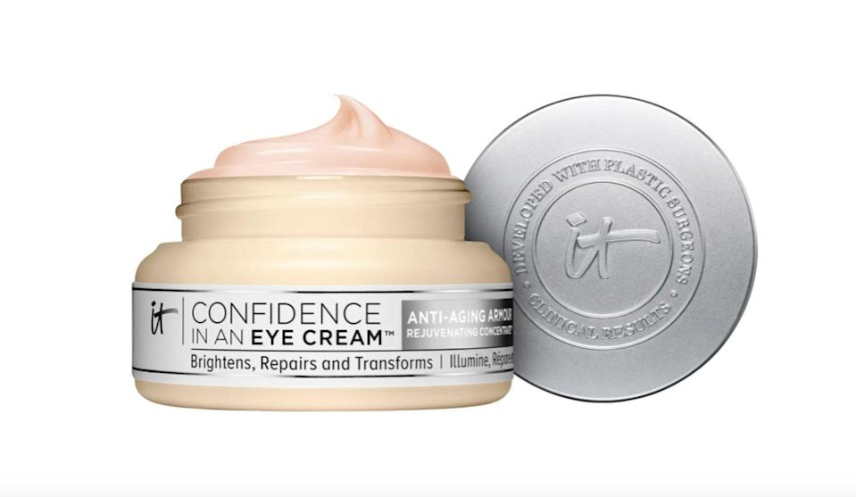 <p>Give your undereyes the love they deserve with the <span>It Cosmetics Confidence in an Eye Cream</span> ($27, originally $39).</p>