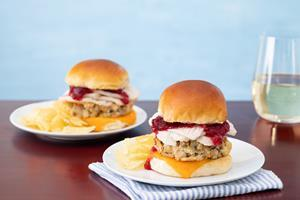 Easy Thanksgiving Leftover Turkey Sliders recipe available in attached PDF