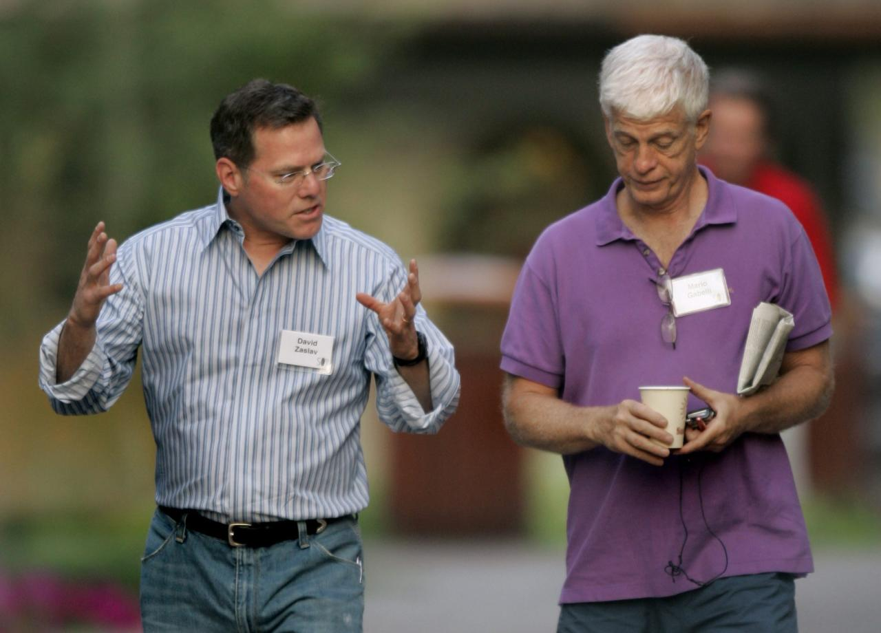 <p>No. 10: CEO Mario J. Gabelli (right)<br />Company: Gamco Investors Inc.<br />Compensation: $75,965,266<br />(AP Photo/Douglas C. Pizac) </p>