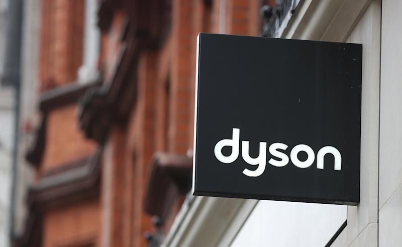 Dyson logo displayed at the Dyson Demo shop in Oxford Street, London. Photo: Isabel Infantes/EMPICS Entertainment