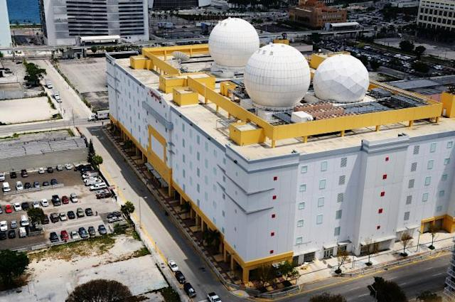 The NAP of the Americas, now operated by Equinix, is 750,000 square feet and designed to withstand Category 5 hurricane-level winds. (Photo: Terremark)