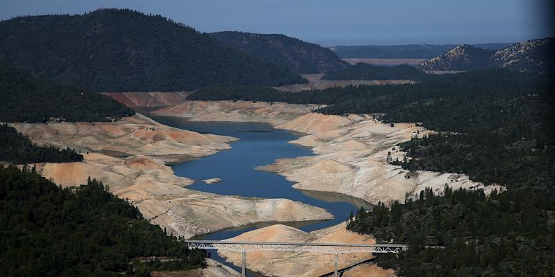 California drought lake water