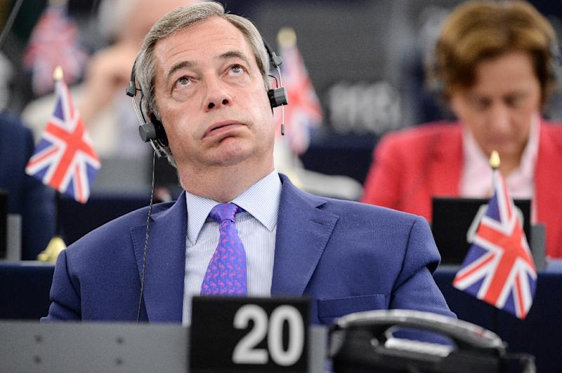 Nigel Farage resigned from UKIP in the aftermath of the Brexit vote (AFP Photo/Sebastien Bozon)