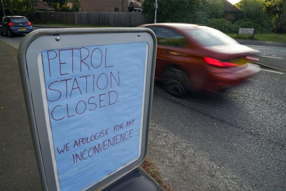 A closed Tesco petrol station in Bracknell, Berkshire (Steve Parsons/PA) (PA Wire)