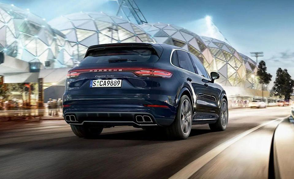 """<p>The third-generation <a href=""""https://www.caranddriver.com/porsche/cayenne"""" rel=""""nofollow noopener"""" target=""""_blank"""" data-ylk=""""slk:Porsche Cayenne"""" class=""""link rapid-noclick-resp"""">Porsche Cayenne</a> sets a high bar with a 541-hp twin-turbo 4.0-liter V-8 Turbo model. During our testing, the <a href=""""https://www.caranddriver.com/porsche/cayenne-turbo"""" rel=""""nofollow noopener"""" target=""""_blank"""" data-ylk=""""slk:Cayenne Turbo"""" class=""""link rapid-noclick-resp"""">Cayenne Turbo</a> got to 60 mph in just <a href=""""https://www.caranddriver.com/reviews/a28652553/2019-porsche-cayenne-turbo-by-the-numbers/"""" rel=""""nofollow noopener"""" target=""""_blank"""" data-ylk=""""slk:3.4 seconds"""" class=""""link rapid-noclick-resp"""">3.4 seconds</a>, making it one of the <a href=""""https://www.caranddriver.com/features/g19876364/quickest-suvs-tested-ever/"""" rel=""""nofollow noopener"""" target=""""_blank"""" data-ylk=""""slk:quickest SUVs we've ever tested"""" class=""""link rapid-noclick-resp"""">quickest SUVs we've ever tested</a>. That time is also quicker than the 710-hp Dodge at the top of this list. The Cayenne Turbo can do a quarter-mile in 12.0 seconds at 115 mph too, thanks to its trick launch-control system that's part of a $1130 Sport Chrono package. It has a towing capacity of 7700 pounds, perfect for pulling your other Porsche to a track day. But with performance like this, why not just race the five-seater?</p><p><a class=""""link rapid-noclick-resp"""" href=""""https://www.caranddriver.com/porsche/cayenne-turbo"""" rel=""""nofollow noopener"""" target=""""_blank"""" data-ylk=""""slk:MORE CAYENNE TURBO SPECS"""">MORE CAYENNE TURBO SPECS</a></p>"""