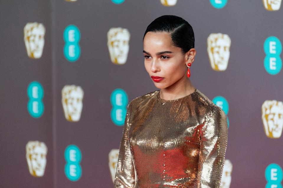 Zoe Kravitz attends the EE British Academy Film Awards ceremony at the Royal Albert Hall on 02 February, 2020 in London, England. (Photo by WIktor Szymanowicz/NurPhoto via Getty Images)