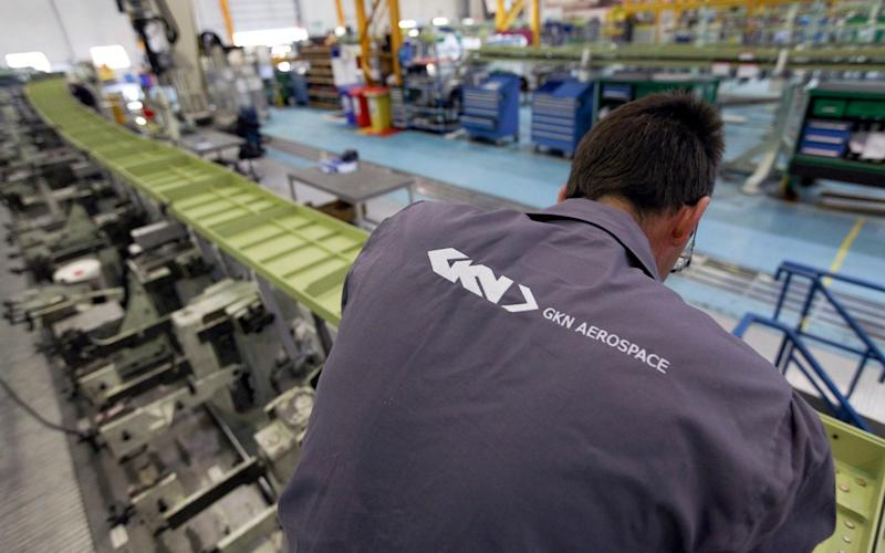 A GKN employee in one of the company's aerospace plants - Copyright 2012 Bloomberg Finance LP
