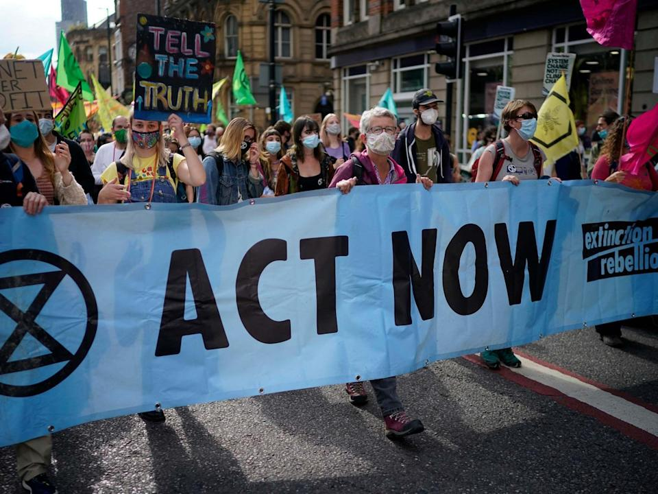 Thousands have gathered in London this week to rally against 'government inaction' on the climate crisis