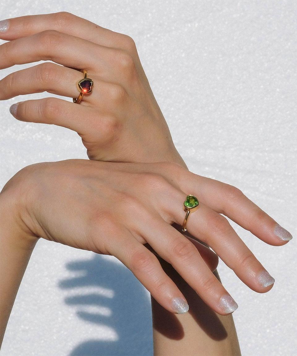 """<strong><h2>Luiny</h2></strong>Jewelry line Luiny, a standard bearer of bold minimalism, was created by self-taught Puerto Rican designer Luiny Rivera. The brand is now based in New York City, where Rivera designs accessories in intricate shapes and textures inspired by her travels and her time at home. <br><br><em>Shop <a href=""""https://www.luiny.com/"""" rel=""""nofollow noopener"""" target=""""_blank"""" data-ylk=""""slk:Luiny"""" class=""""link rapid-noclick-resp"""">Luiny</a></em><br>"""