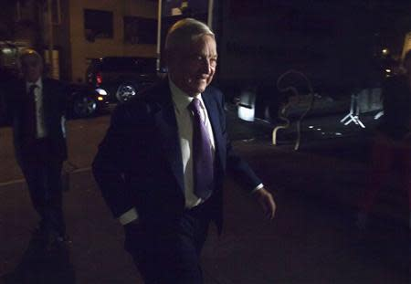 Billionaire George Soros arrives at the Museum of Modern Art in New York, September 20, 2013. REUTERS/Carlo Allegri