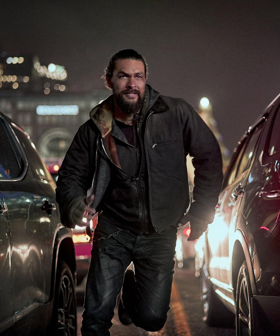 """<em><h2>Sweet Girl</h2></em><br><strong>Release Date: </strong>August 20<br><br>Jason Momoa is out for revenge in <em>Sweet Girl</em>. The thriller is about a man seeking justice following the death his wife, all while protecting his daughter (Isabela Merced). <span class=""""copyright"""">Photo: Courtesy of Netflix.</span>"""