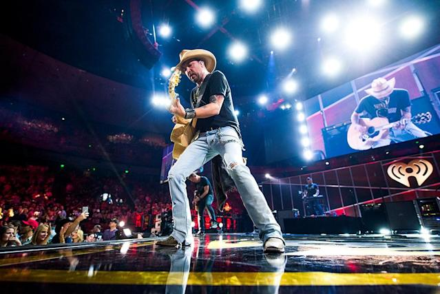 <p>Jason Aldean performs at the 2017 iHeartCountry Festival, A Music Experience by AT&T at The Frank Erwin Center on May 6, 2017 in Austin, Texas. (Photo: Todd Owyoung) </p>