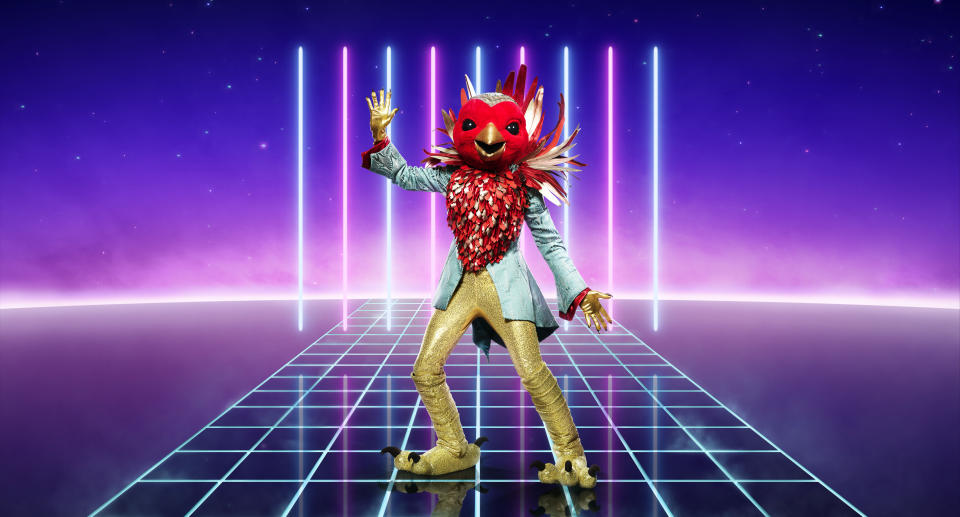 From Bandicoot TV  The Masked Singer: SR2 on ITV  Pictured: Robin.  This photograph is (C) ITV Plc and can only be reproduced for editorial purposes directly in connection with the programme or event mentioned above, or ITV plc. Once made available by ITV plc Picture Desk, this photograph can be reproduced once only up until the transmission [TX] date and no reproduction fee will be charged. Any subsequent usage may incur a fee. This photograph must not be manipulated [excluding basic cropping] in a manner which alters the visual appearance of the person photographed deemed detrimental or inappropriate by ITV plc Picture Desk.  This photograph must not be syndicated to any other company, publication or website, or permanently archived, without the express written permission of ITV Picture Desk. Full Terms and conditions are available on the website www.itv.com/presscentre/itvpictures/terms  For further information please contact: james.hilder@itv.com / 0207 157 3052