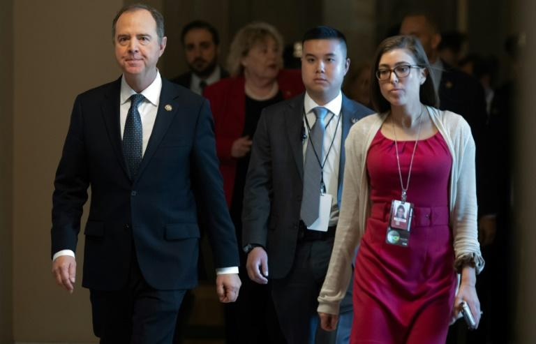 Many legal experts and analysts lauded the performance of Representative Adam Schiff, head of the House of Representatives' prosecution team in the impeachment (AFP Photo/SAUL LOEB)