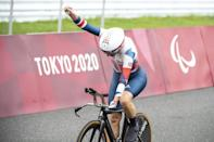 Britain's Sarah Storey has now equalled the all-time British Paralympic Games record of 16 gold medals (AFP/CHARLY TRIBALLEAU)