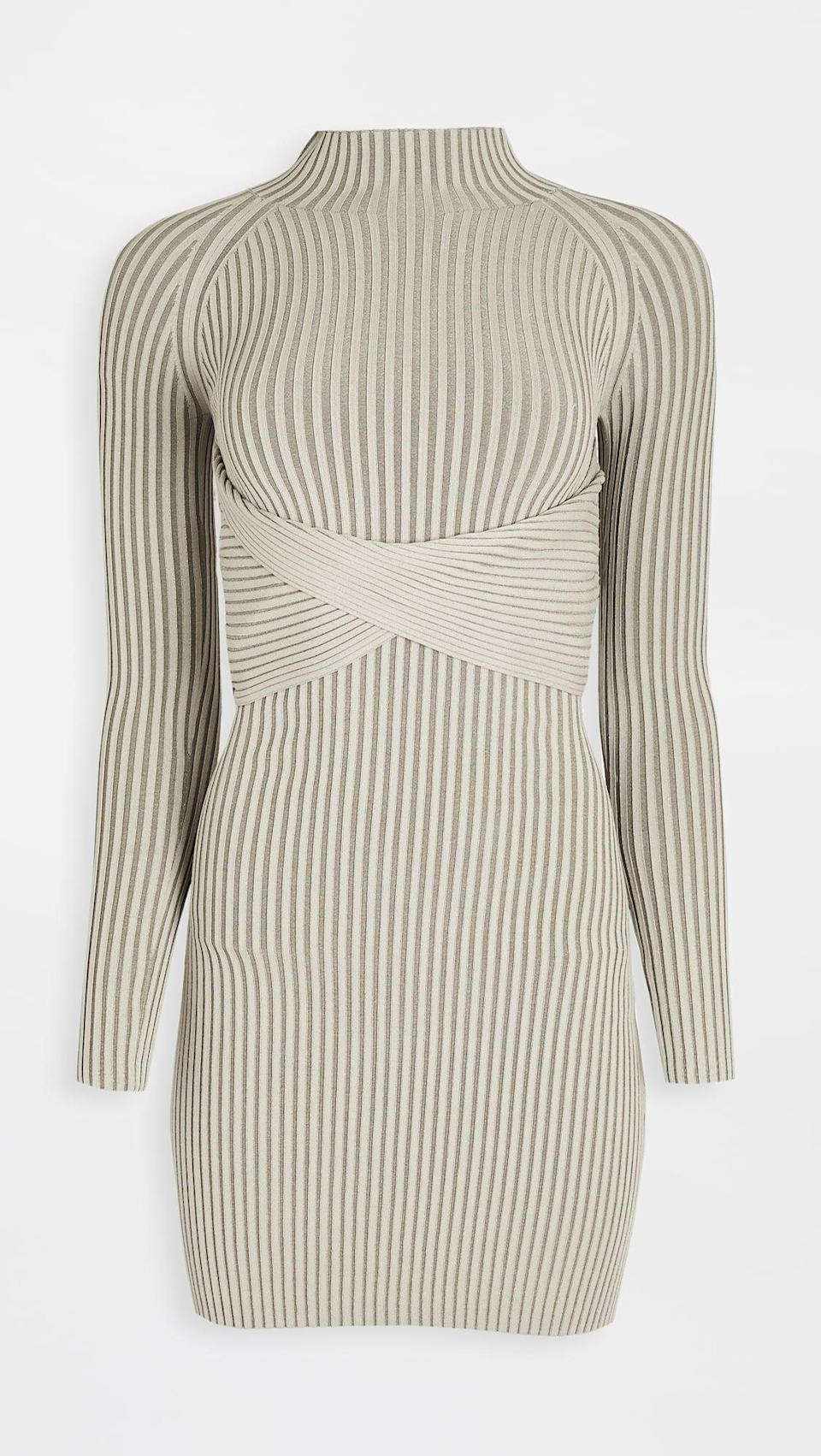 <p>This <span>Dion Lee Stripe Rib Twist Mini Dress</span> ($690) is a little bit sexy, with some strategically placed cutouts in the back.</p>
