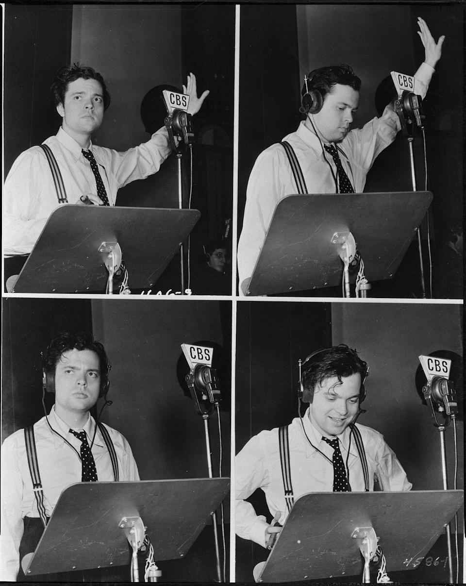 <p><strong><em>What Halloween radio drama caused a mass panic on October 30, 1938?</em></strong></p><p><strong>Answer:</strong> War of the Worlds. Originally a special Halloween episode of <em>The Mercury Theatre on the Air, </em>it was directed and performed by actor Orson Wells who adapted it from H.G. Wells' original novel. Whether or not it <em>actually</em> cause mass hysteria and panic is up for debate because apparently there weren't that many listeners.</p>