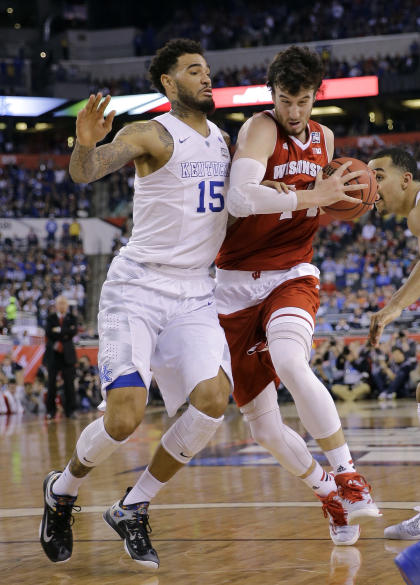 Could either Willie Cauley-Stein or Frank Kaminsky fall to the Jazz at No. 12? (AP Photo/David J. Phillip)