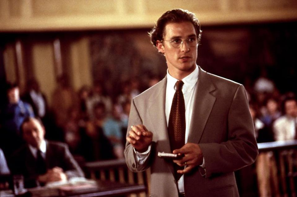 McConaughey as Jake Tyler Brigance in A Time to Kill, 1996.