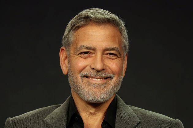 Actor, executive producer, and director George Clooney speaks on a panel for the Hulu series