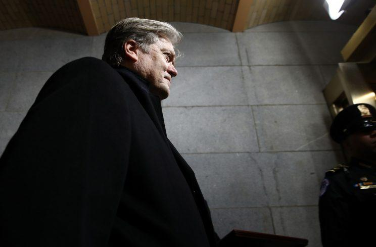 Steve Bannon, a top adviser to U.S. President Trump, is co-founder of Breitbart News, a website he has called a 'platform for the alt-right.' More than 800 companies, including Canada's federal government, have halted their ads from appearing on the site. Photo from Getty Images