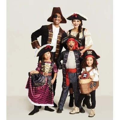 """<p>You can sail all the seas, but you'll never find a cooler costume than this family pirate set! Everyone will be saying """"ahoy, matey!"""" when they see the <a href=""""https://www.popsugar.com/buy/Men%27s%20Pirate%20Jacket%20Halloween%20Costume-470787?p_name=Men%27s%20Pirate%20Jacket%20Halloween%20Costume&retailer=target.com&price=35&evar1=moms%3Aus&evar9=46404701&evar98=https%3A%2F%2Fwww.popsugar.com%2Ffamily%2Fphoto-gallery%2F46404701%2Fimage%2F46405384%2FPirates-Halloween-Costume-Collection&list1=target%2Challoween%2Challoween%20costumes%2Challoween%20costumes%202019&prop13=mobile&pdata=1"""" rel=""""nofollow"""" data-shoppable-link=""""1"""" target=""""_blank"""" class=""""ga-track"""" data-ga-category=""""Related"""" data-ga-label=""""https://www.target.com/p/men-s-pirate-jacket-halloween-costume-hyde-and-eek-boutique-153/-/A-54501724"""" data-ga-action=""""In-Line Links"""">Men's Pirate Jacket Halloween Costume</a> ($35), <a href=""""https://www.popsugar.com/buy/Women%27s%20Pirate%20Dress%20Halloween%20Costume-470711?p_name=Women%27s%20Pirate%20Dress%20Halloween%20Costume&retailer=target.com&price=30&evar1=moms%3Aus&evar9=46404701&evar98=https%3A%2F%2Fwww.popsugar.com%2Ffamily%2Fphoto-gallery%2F46404701%2Fimage%2F46405384%2FPirates-Halloween-Costume-Collection&list1=target%2Challoween%2Challoween%20costumes%2Challoween%20costumes%202019&prop13=mobile&pdata=1"""" rel=""""nofollow"""" data-shoppable-link=""""1"""" target=""""_blank"""" class=""""ga-track"""" data-ga-category=""""Related"""" data-ga-label=""""https://www.target.com/p/women-s-pirate-dress-halloween-costume-hyde-and-eek-boutique-153/-/A-54501685"""" data-ga-action=""""In-Line Links"""">Women's Pirate Dress Halloween Costume</a> ($30), <a href=""""https://www.popsugar.com/buy/Boys%27%20Blackbeard%20Pirate%20Halloween%20Costume-470785?p_name=Boys%27%20Blackbeard%20Pirate%20Halloween%20Costume&retailer=target.com&price=25&evar1=moms%3Aus&evar9=46404701&evar98=https%3A%2F%2Fwww.popsugar.com%2Ffamily%2Fphoto-gallery%2F46404701%2Fimage%2F46405384%2FPirates-Halloween-Costume-Collection&list1=target%2Cha"""
