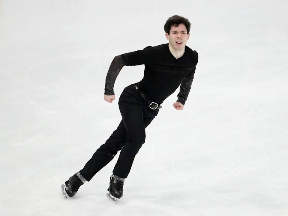 Keegan Messing of Canada, pictured at the 2021 World Figure Skating Championships, skated to fourth place on Friday at the Finlandia Trophy.  ( Linnea Rheborg/Getty Images - image credit)