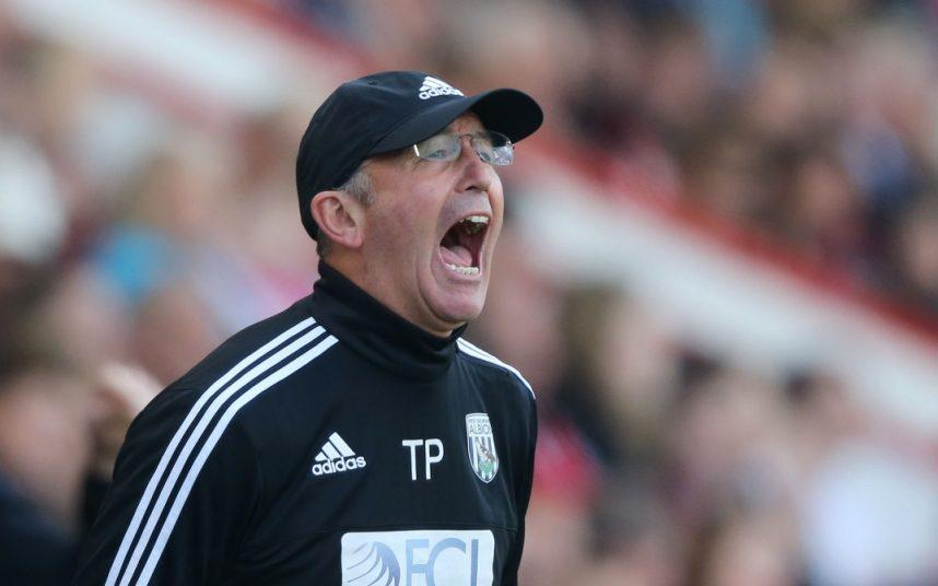 Tony Pulis bawling his head off - Credit: Sean Ryan/IPS/REX/Shutterstock