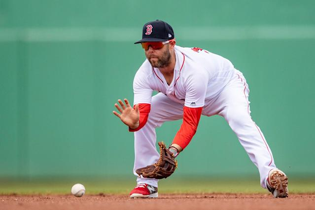 Dustin Pedroia played in only three games for the Boston Red Sox in 2018. (Getty Images)