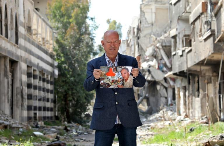 'Nothing can make up for my losses,' said 70-year-old Palestinian painter Mohammed al-Rakouia in Yarmouk neighbourhood