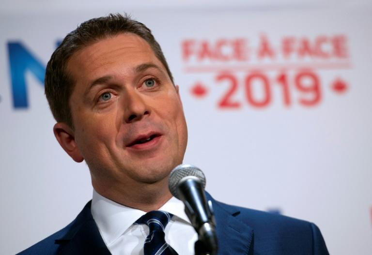 Canada's Conservative Party chief Andrew Scheer pushes to get his message across