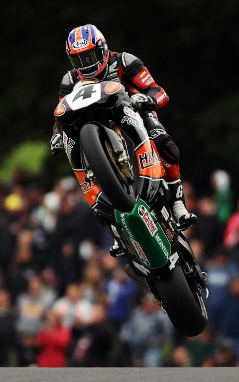 Josh Brookes soars over the Mountain at Cadwell Park seven years ago - Credit: Bryn Lennon/Getty Images