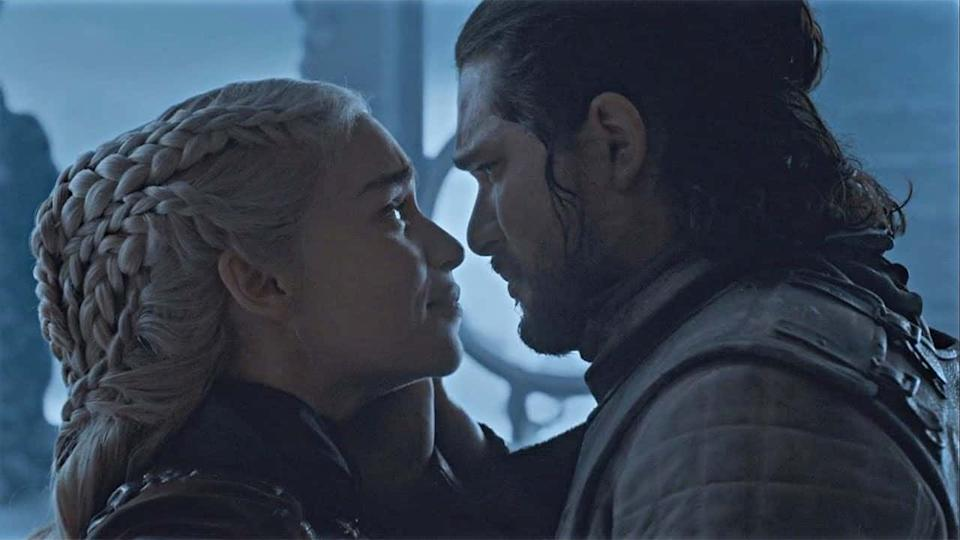 Daenerys and Jon Snow in 'Game of Thrones'. (Credit: HBO)