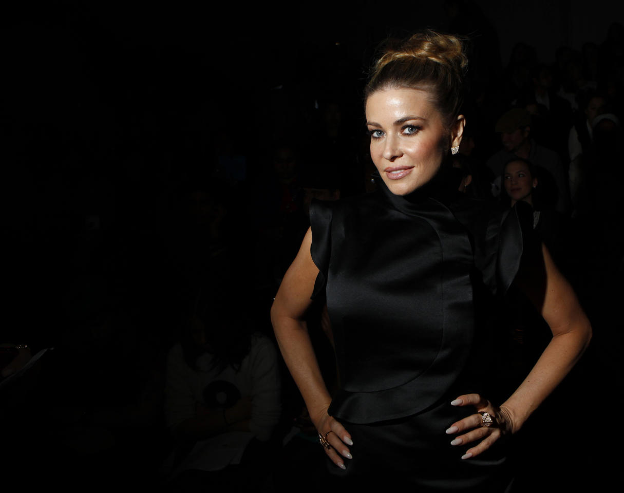 Actress Carmen Electra attends the Vivienne Tam Autumn/Winter 2013 collection during New York Fashion Week, February 10, 2013. REUTERS/Eric Thayer (UNITED STATES - Tags: FASHION ENTERTAINMENT) - RTR3DM4Z