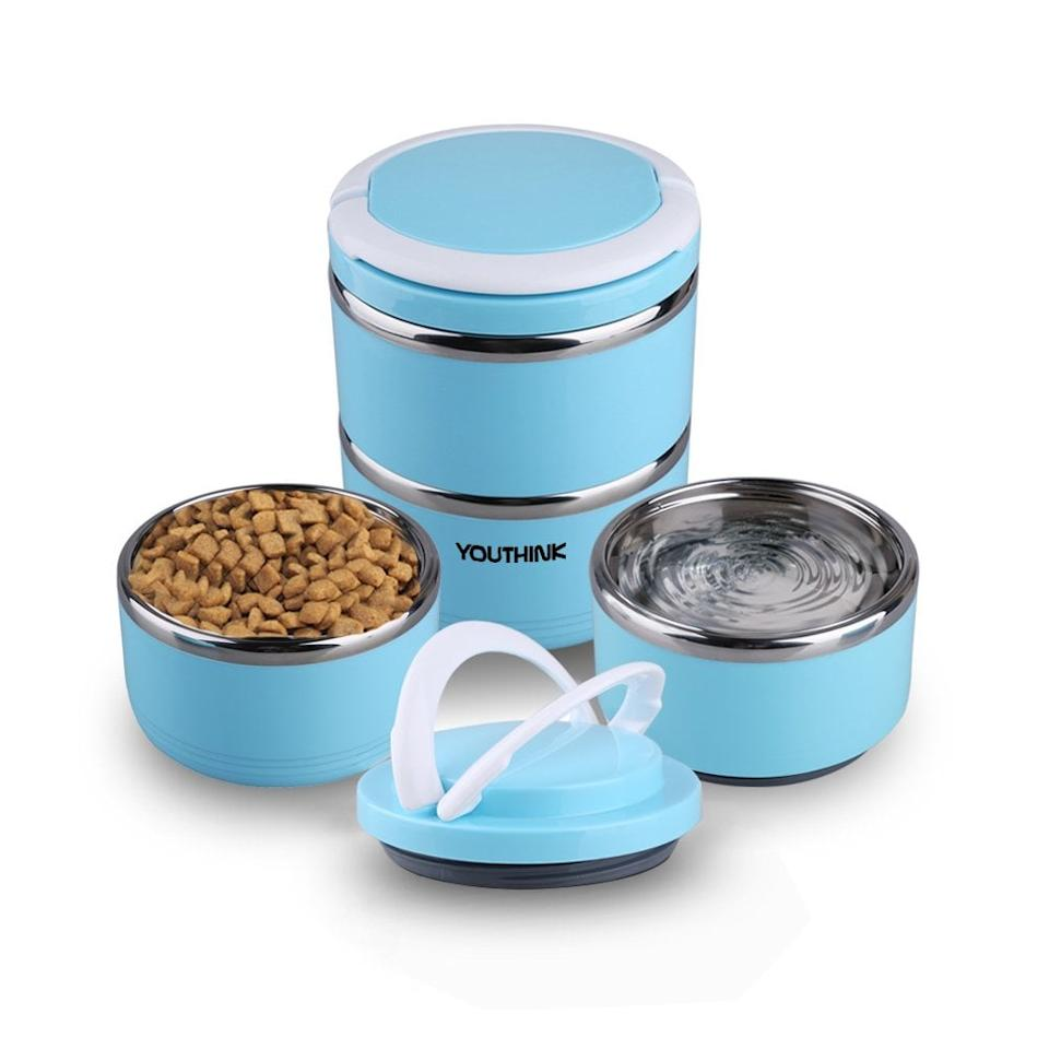 """<p>The <a href=""""https://www.popsugar.com/buy/YouThink%20Spill%20Proof%20Dog%20Cat%20Travel%20Bowl-447657?p_name=YouThink%20Spill%20Proof%20Dog%20Cat%20Travel%20Bowl&retailer=amazon.com&price=23&evar1=moms%3Aus&evar9=46159454&evar98=https%3A%2F%2Fwww.popsugar.com%2Ffamily%2Fphoto-gallery%2F46159454%2Fimage%2F46159458%2FYouThink-Spill-Proof-Dog-Cat-Travel-Bowl&list1=shopping%2Ctravel%2Cdogs%2Ccats%2Cpets%2Ctravel%20goods&prop13=api&pdata=1"""" rel=""""nofollow"""" data-shoppable-link=""""1"""" target=""""_blank"""">YouThink Spill Proof Dog Cat Travel Bowl </a> ($23) can carry water and food without a problem. </p>"""