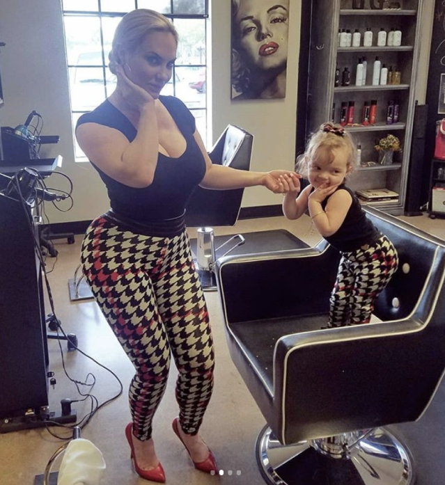 "<p>Double trouble! Ice T's wife, Coco, and daughter Chanel couldn't be more adorable as they twinned with attitude during some girl time. ""Chanel and I entertain ourselves while visiting a friend at her salon (@urbanglowstudio),"" the mom wrote. ""We danced, sang, and Chanel showed off her high kicks.. Such a little poser she is..wonder where she gets it?"" (Photo: <a href=""https://www.instagram.com/p/BdoDeJKFTXG/?taken-by=coco"" rel=""nofollow noopener"" target=""_blank"" data-ylk=""slk:Coco via Instagram"" class=""link rapid-noclick-resp"">Coco via Instagram</a>) </p>"