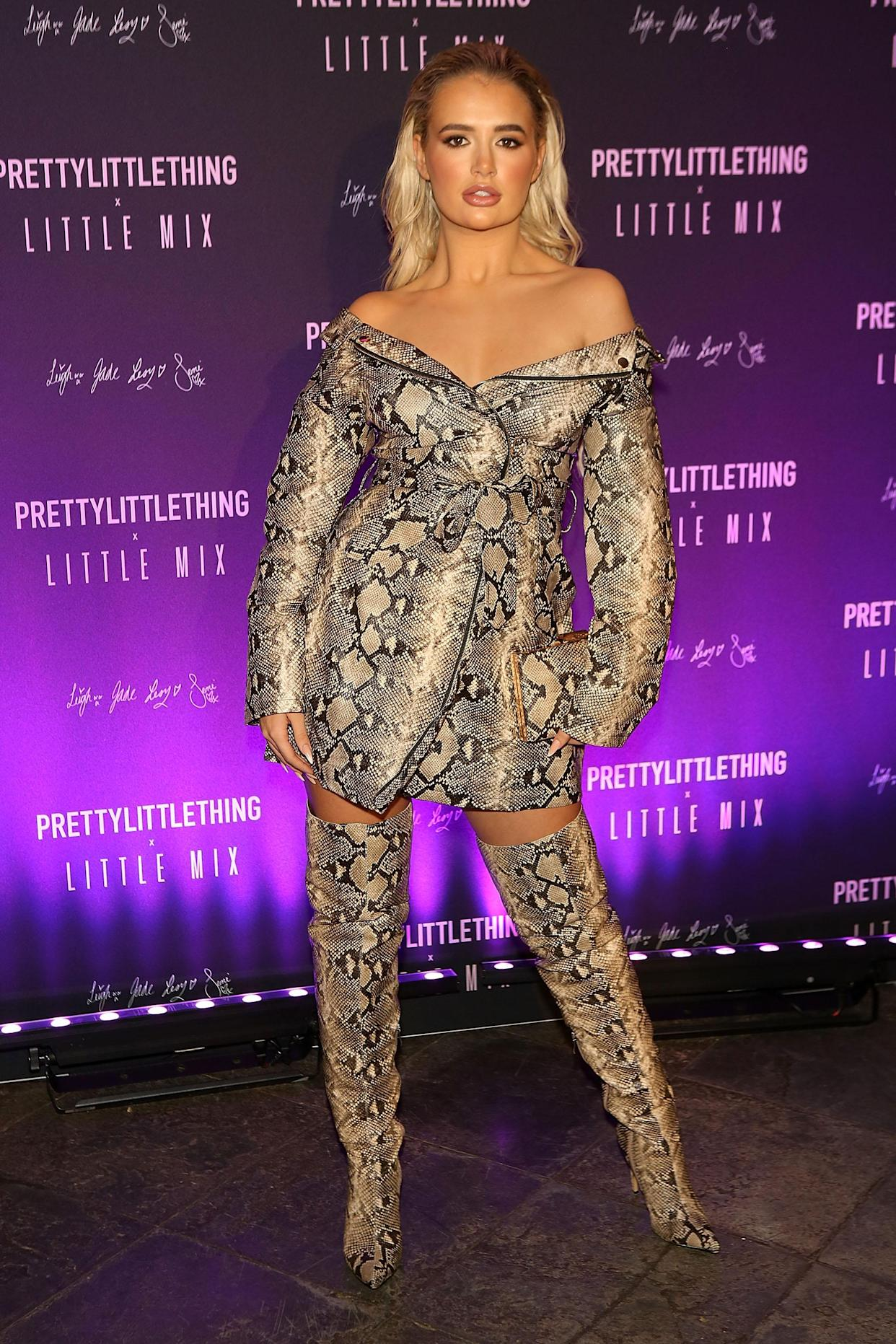 BANBURY, ENGLAND - NOVEMBER 06:  Molly-Mae Hague attends the launch of the PrettyLittleThing x Little Mix collection at Aynhoe Park House on November 6, 2019 in Banbury, England.  (Photo by David M. Benett/Dave Benett/Getty Images)