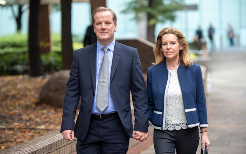 Mr Elphicke arrived at court with his wife, the current Dover MP, Natalie - Paul Grover