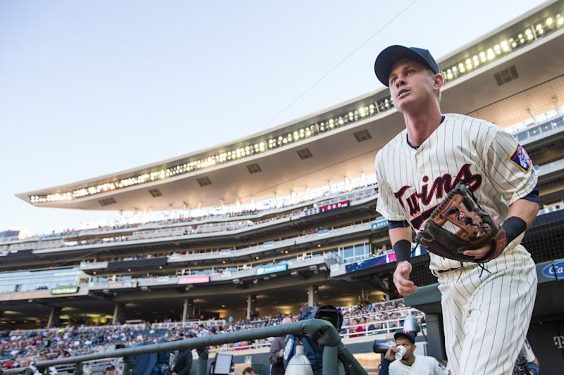 </a> MINNEAPOLIS, MN- SEPTEMBER 10: James Beresford #30 of the Minnesota Twins looks on against the Cleveland Indians on September 10, 2016 at [f500link]Target[/f500link] Field in Minneapolis, Minnesota. The Twins defeated the Indians 2-1. (Photo by Brace Hemmelgarn/Minnesota Twins/Getty Images)Brace Hemmelgarn Getty Images