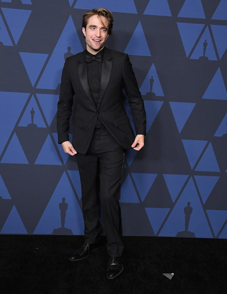 <p>WHERE: The Academy of Motion Picture Arts and Sciences' Governors Awards in Hollywood</p> <p>WHEN: October 27, 2019</p> <p>WHY: Black suit, black shirt, black tie: not just for Sopranos!</p>