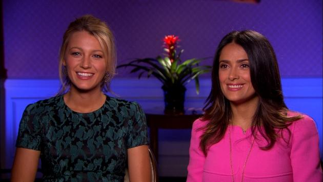 Blake Lively and Salma Hayek talk 'Savages' with Access Hollywood, June 15, 2012 -- Access Hollywood