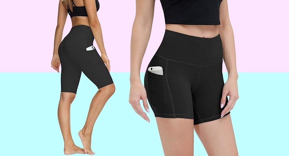 Along Fit's Yoga Shorts are backed by more than 1,400 reviews on Amazon.