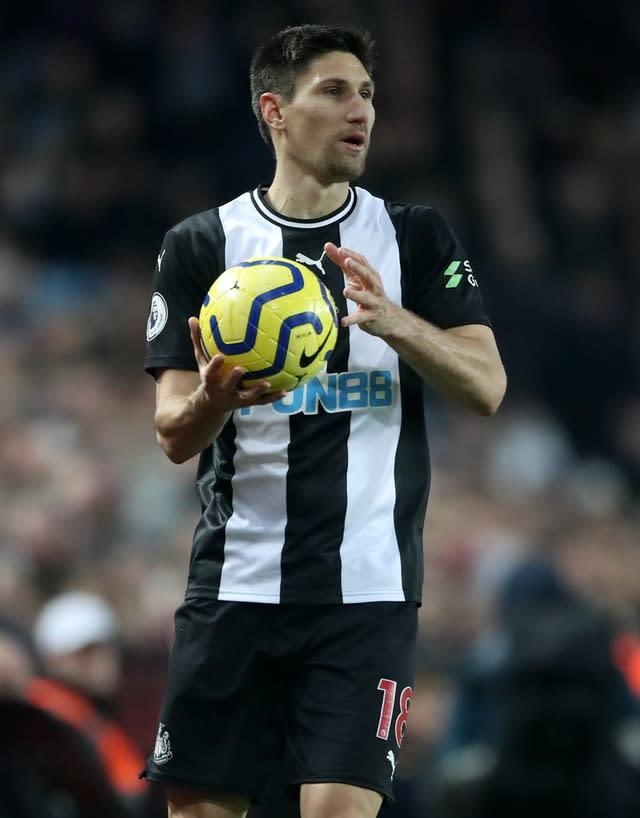 Federico Fernandez felt Newcastle missed playing in front of their fans (Nick Potts/PA)
