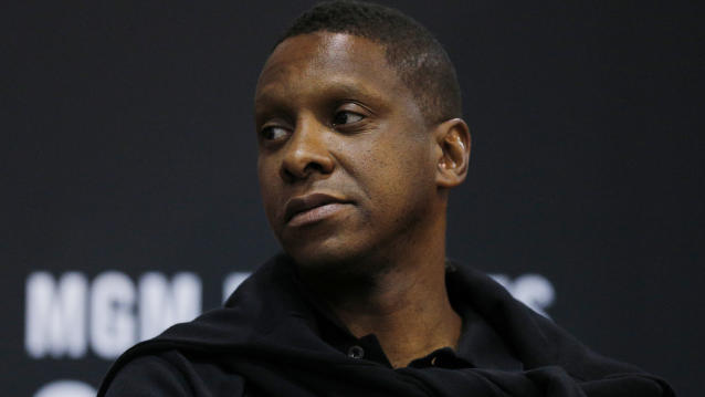 Toronto Raptors president Masai Ujiri is being sued by an Oakland police officer stemming from an altercation after Game 6 of the NBA Finals. (Michael Reaves/Getty Images)