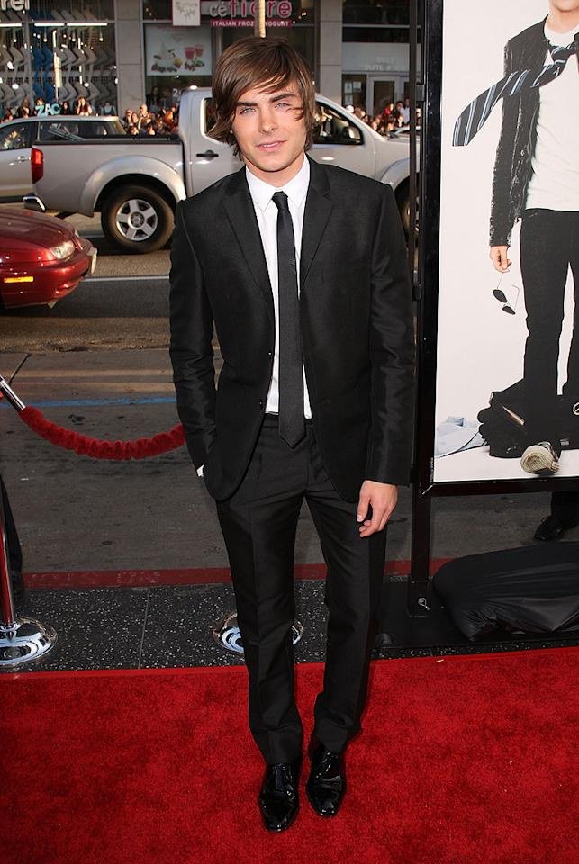 "Zac Efron  ""17 Again"" Los Angeles premiere  Grade: A    Zac Efron showed the right way to rock a skinny suit and tie."