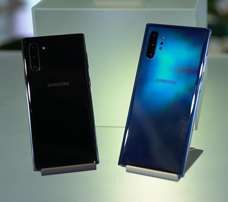 Samsung's Galaxy Note10 and 10 Plus are here. (Image: Howley)